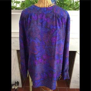 Vintage Italian Silk Tunic Top Blouse
